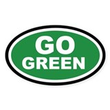 Go Green Euro Oval Decal