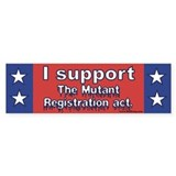 Vote YES on mutant registrati Bumper Bumper Sticker