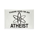 THANK GOD I'M ATHEIST Rectangle Magnet (10 pack)