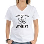 THANK GOD I'M ATHEIST Women's V-Neck T-Shirt