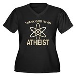 THANK GOD I'M ATHEIST Women's Plus Size V-Neck Dar