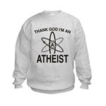 THANK GOD I'M ATHEIST Kids Sweatshirt