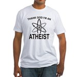 THANK GOD I'M ATHEIST Fitted T-Shirt