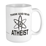 THANK GOD I'M ATHEIST Large Mug