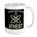 THANK GOD I'M ATHEIST DARK Large Mug