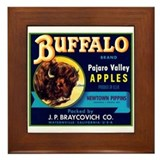 Buffalo Pajaro Framed Tile