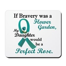 Flower Garden 1 Teal (Daughter) Mousepad