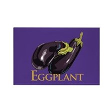 Eggplant/Aubergine Rectangle Magnet