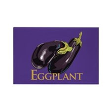 Eggplant/Aubergine Rectangle Magnet (10 pack)