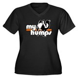 My Humps Women's Plus Size V-Neck Dark T-Shirt