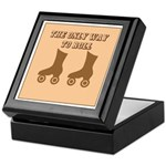 Brown Roller Skates Keepsake Box