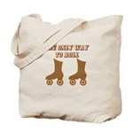 Brown Roller Skates Tote Bag