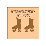 Brown Roller Skates Small Poster