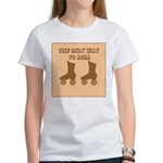 Brown Roller Skates Women's T-Shirt