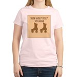 Brown Roller Skates Women's Light T-Shirt