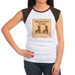 Brown Roller Skates Women's Cap Sleeve T-Shirt