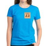 Brown Roller Skates Women's Dark T-Shirt