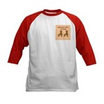 Brown Roller Skates Kids Baseball Jersey