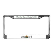 Cute Disc golf License Plate Frame