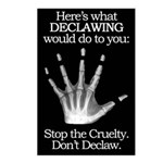 don't declaw Postcards (Package of 8)