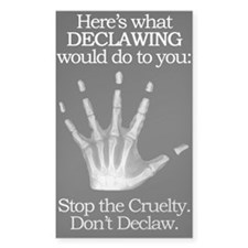 don't declaw Rectangle Decal