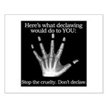 don't declaw Small Poster