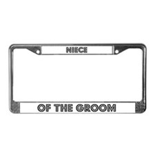 Niece of the Groom License Plate Frame