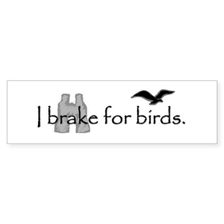 birding bumper sticker