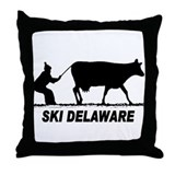 Ski Delaware Throw Pillow