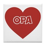 Love Opa Tile Coaster
