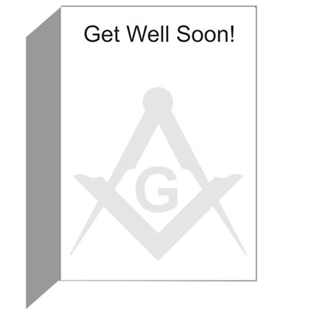 Masonic Get Well Greeting Cards (Pk of 10)
