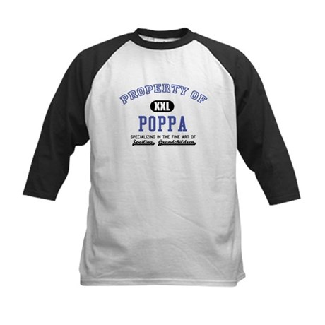 Property of Poppa Kids Baseball Jersey