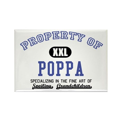 Property of Poppa Rectangle Magnet