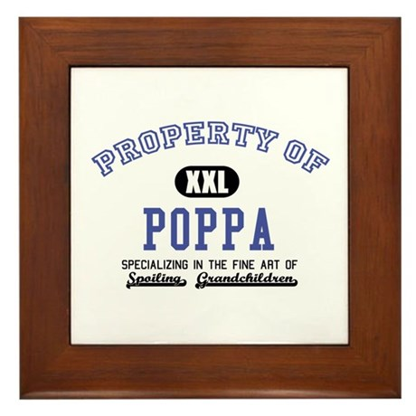 Property of Poppa Framed Tile