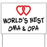 World's Best Oma and Opa Yard Sign
