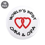 "World's Best Oma and Opa 3.5"" Button (10 pack)"