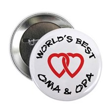 "World's Best Oma and Opa 2.25"" Button (10 pack)"