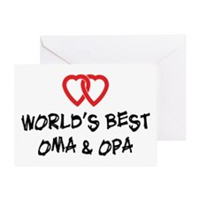 World's Best Oma and Opa Greeting Card