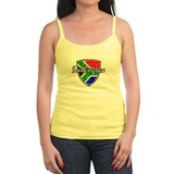 South Africa distressed flag Ladies Top