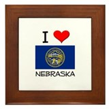 I Love Nebraska Framed Tile