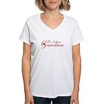 I'm the new Grandma Women's V-Neck T-Shirt