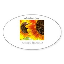 A Mother's Love Sunflower Oval Decal
