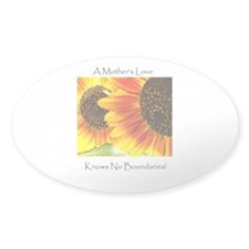 A Mother's Love Sunflower Oval Sticker (50 pk)