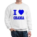 I Love Obama Patriotic Blue Sweatshirt