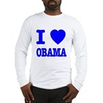 I Love Obama Patriotic Blue Long Sleeve T-Shirt