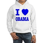 I Love Obama Patriotic Blue Hooded Sweatshirt
