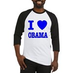 I Love Obama Patriotic Blue Baseball Jersey