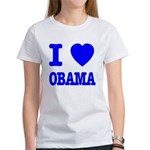 I Love Obama Patriotic Blue Women's T-Shirt