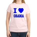 I Love Obama Patriotic Blue Women's Light T-Shirt