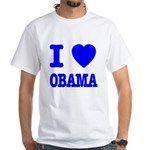 I Love Obama Patriotic Blue White T-Shirt